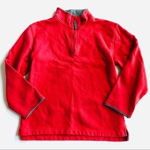 Mini Boden Red Pullover half zip Sweatshirt